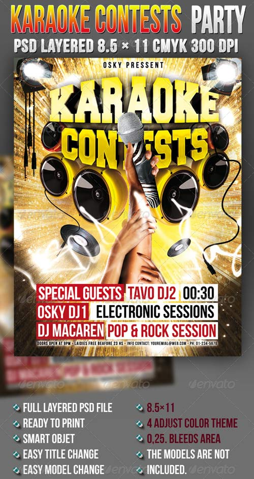 GraphicRiver Karaoke Contests Party