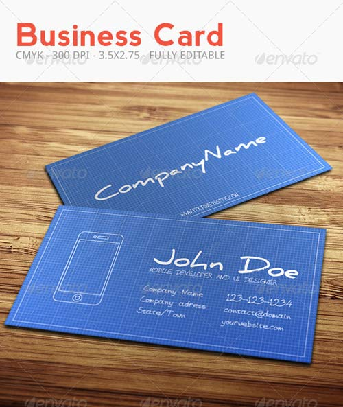 GraphicRiver Blueprint Business Card