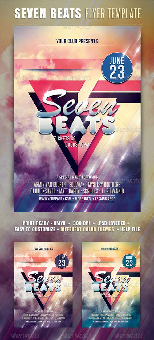 GraphicRiver Seven Beats Flyer