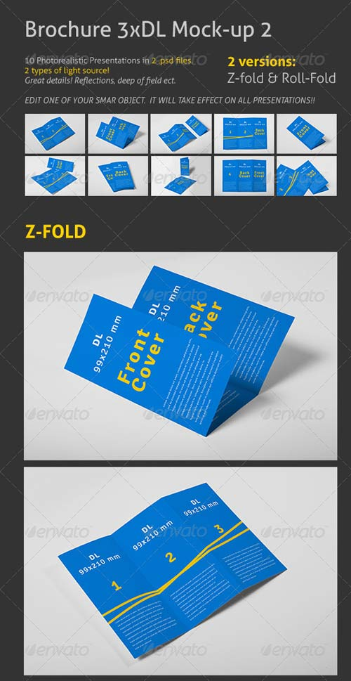 GraphicRiver Brochure 3xDL Mock-up 2