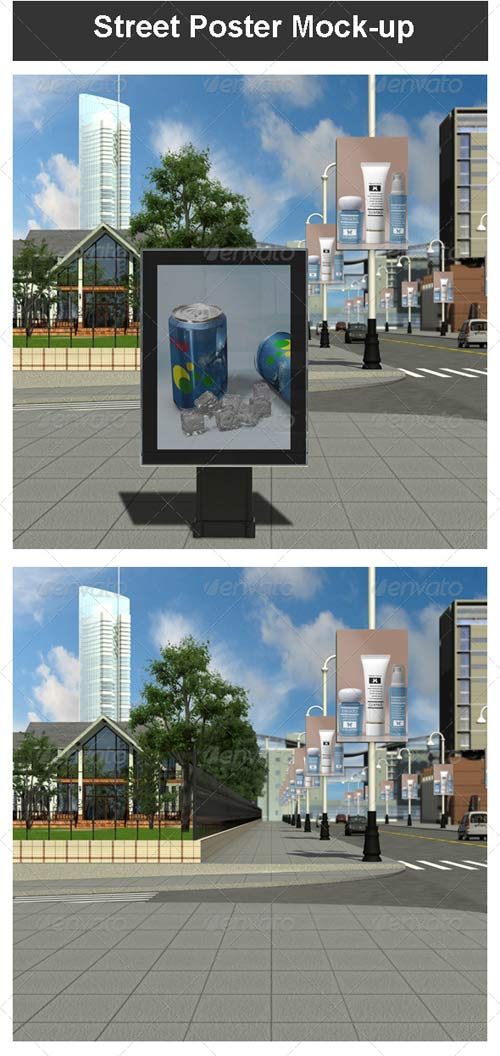 GraphicRiver Street Poster Mock-up