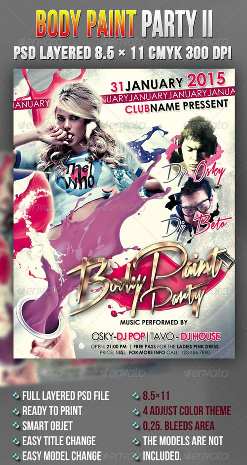 GraphicRiver Body Paint Party II