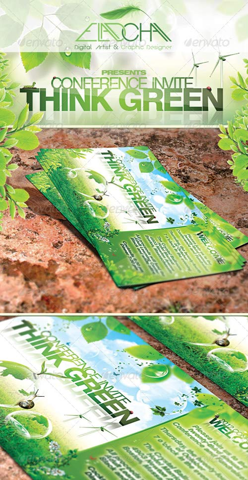 GraphicRiver Think Green Bundle Flyer & Business Card
