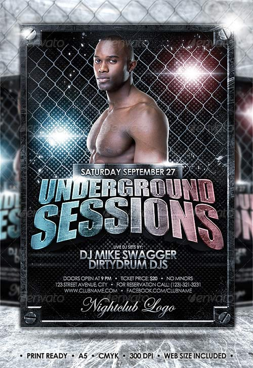 GraphicRiver Underground Flyer // Easily Changeable Colors