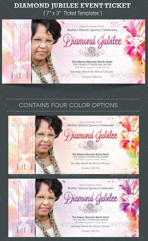 GraphicRiver Diamond Jubilee Event Ticket Template