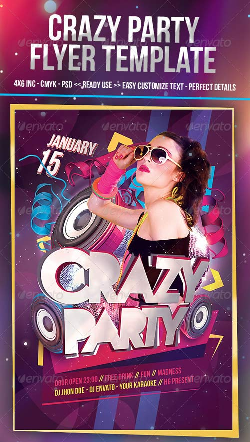 GraphicRiver Crazy Party Flyer Template