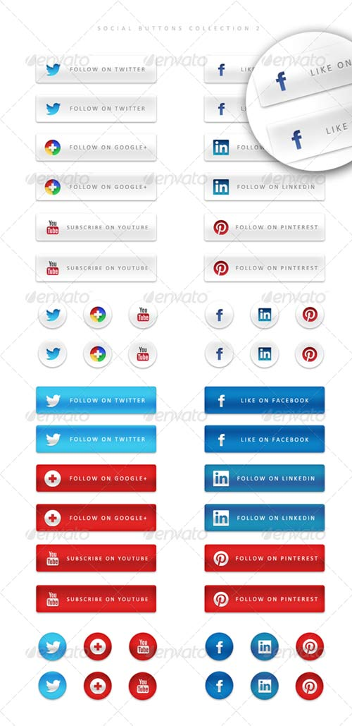 GraphicRiver 48 Social Buttons