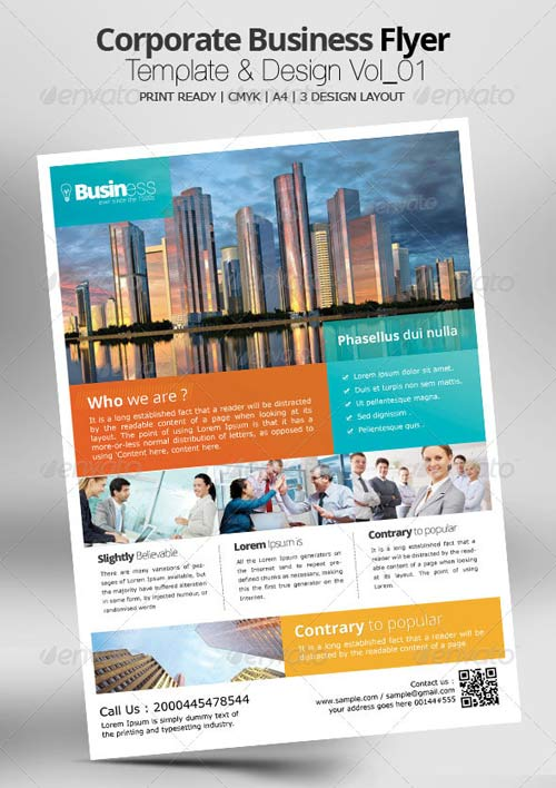 GraphicRiver Corporate Business Flyer Template & Design Vol_01