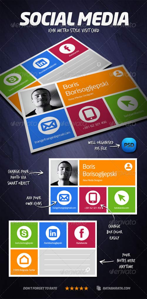 GraphicRiver Social Media Visit Card