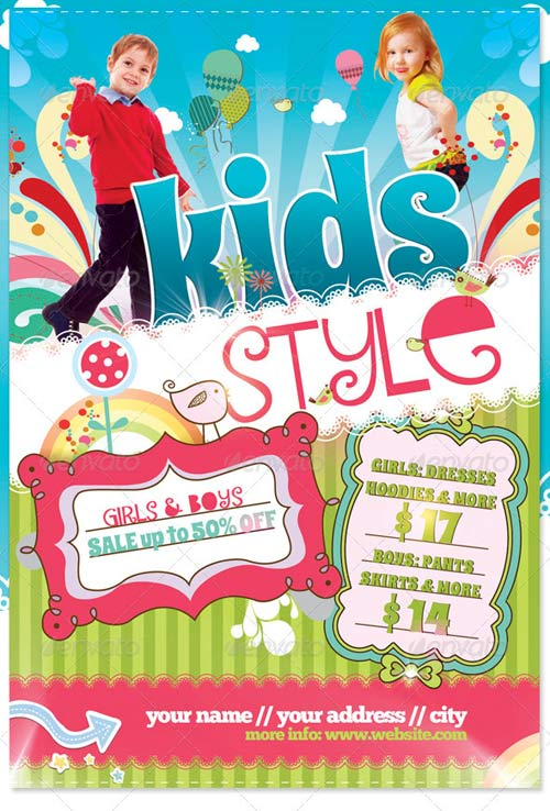 GraphicRiver Kids Style Flyer Template