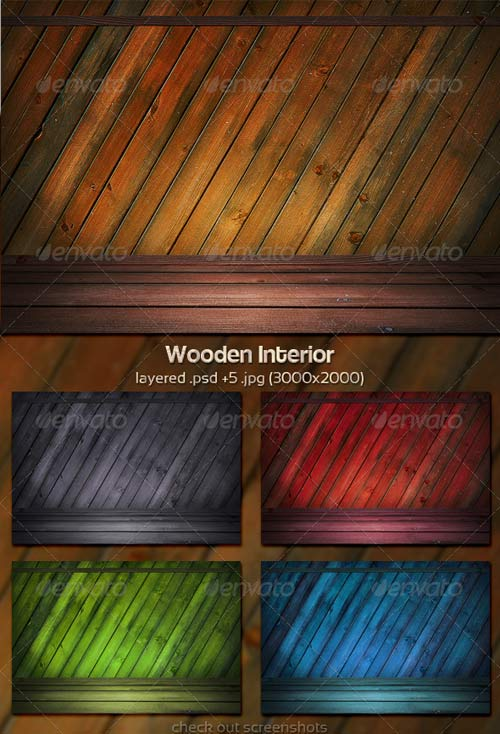 GraphicRiver Wooden Interior