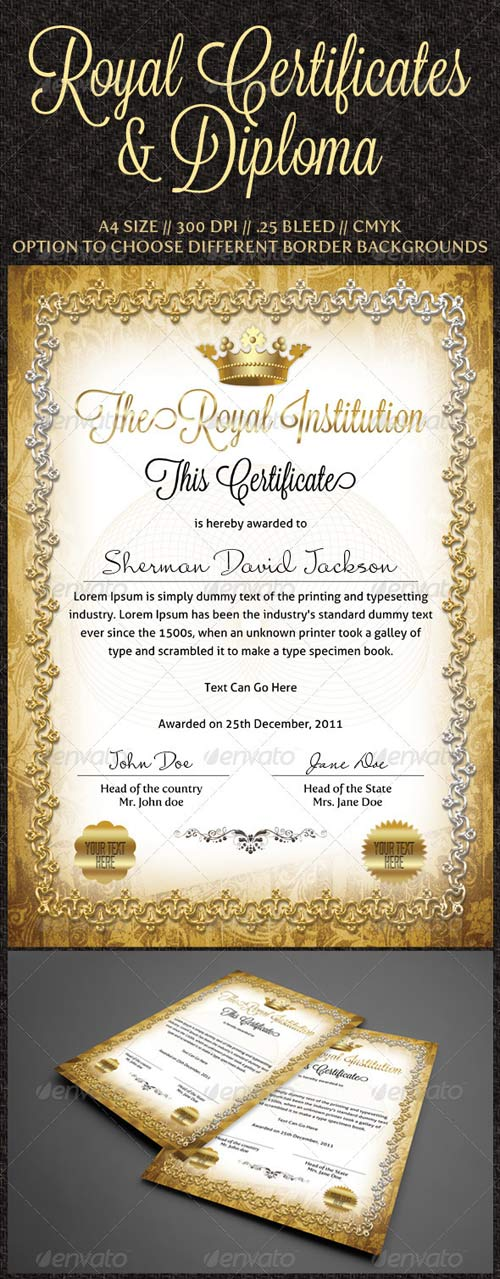 GraphicRiver Royal Certificates