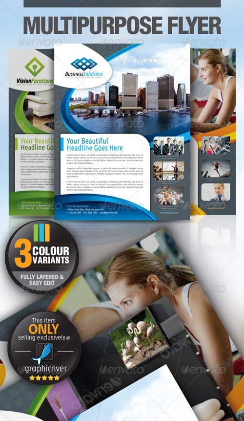 GraphicRiver Multipurpose Business Flyer