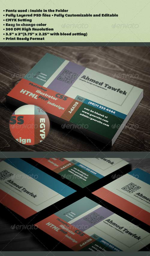 GraphicRiver 10 Graphic Designer Business Card
