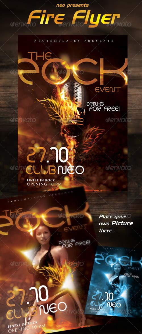 GraphicRiver Fire Flyer Exclusive Flame Style