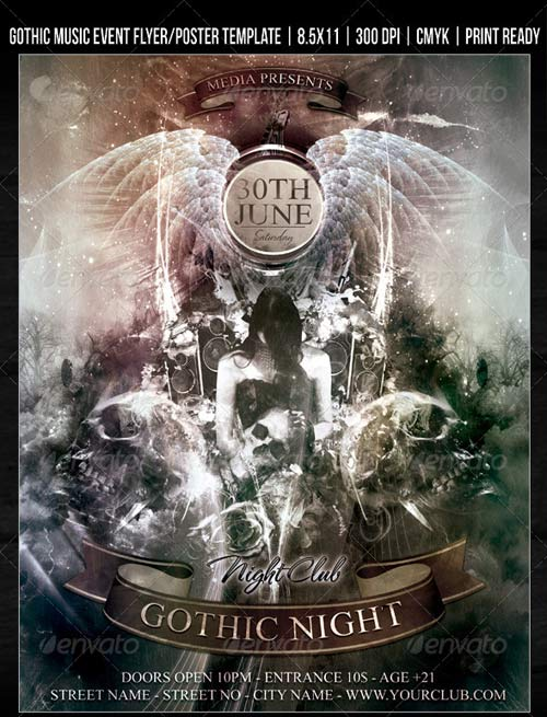 GraphicRiver Gothic Night Club Music Event Flyer/ Poster