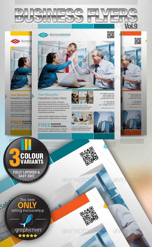 GraphicRiver Simple & Clean Corporate Flyer Vol.9