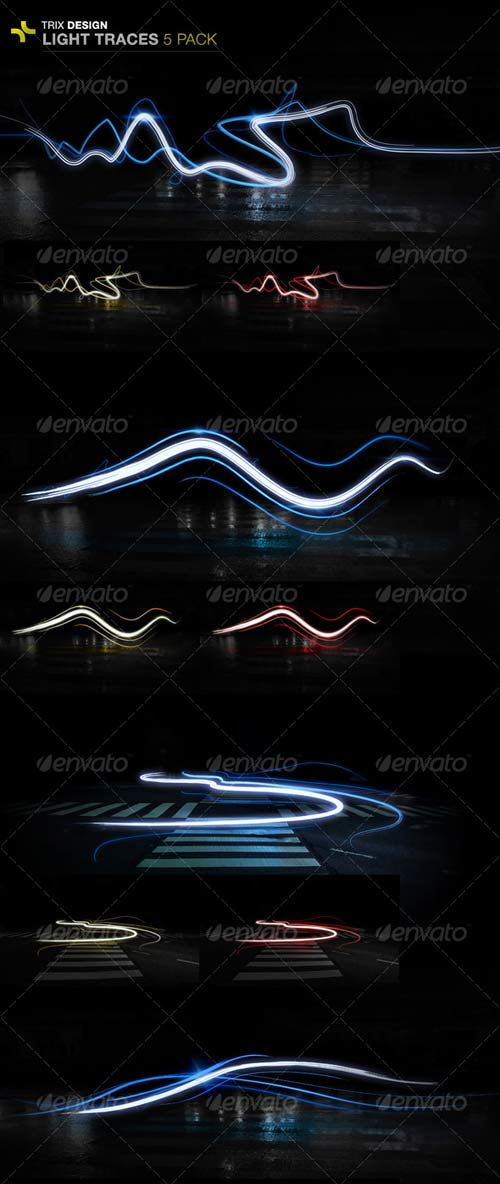 GraphicRiver Light Trails - 5 Pack