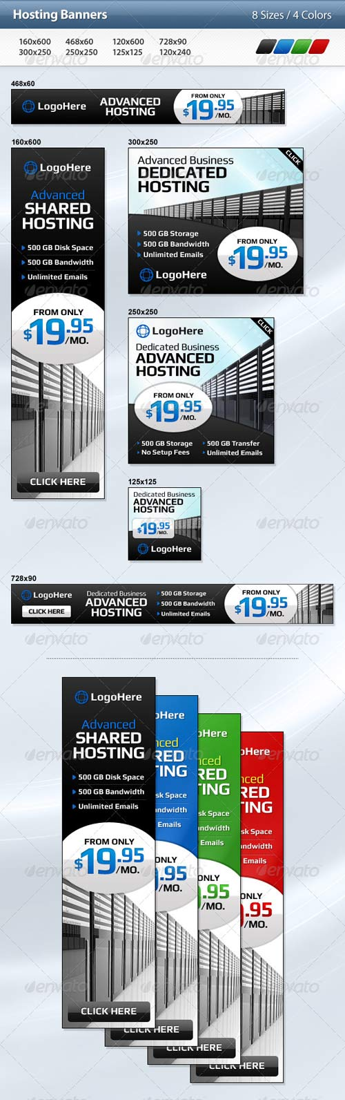 GraphicRiver Hosting Banners