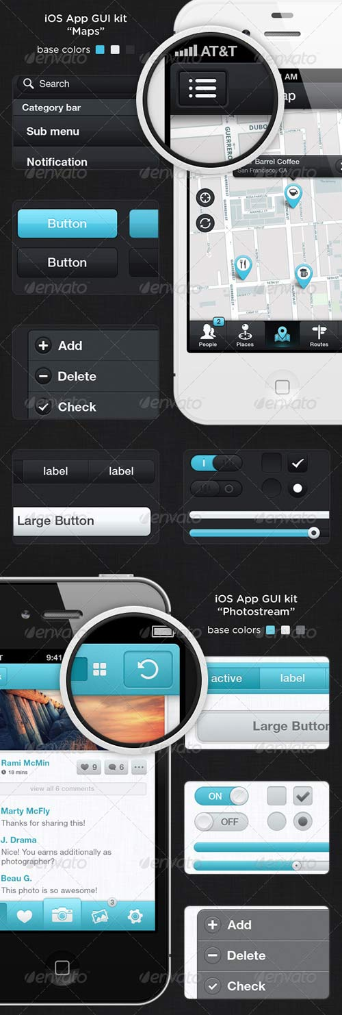 GraphicRiver iOS App GUI kit