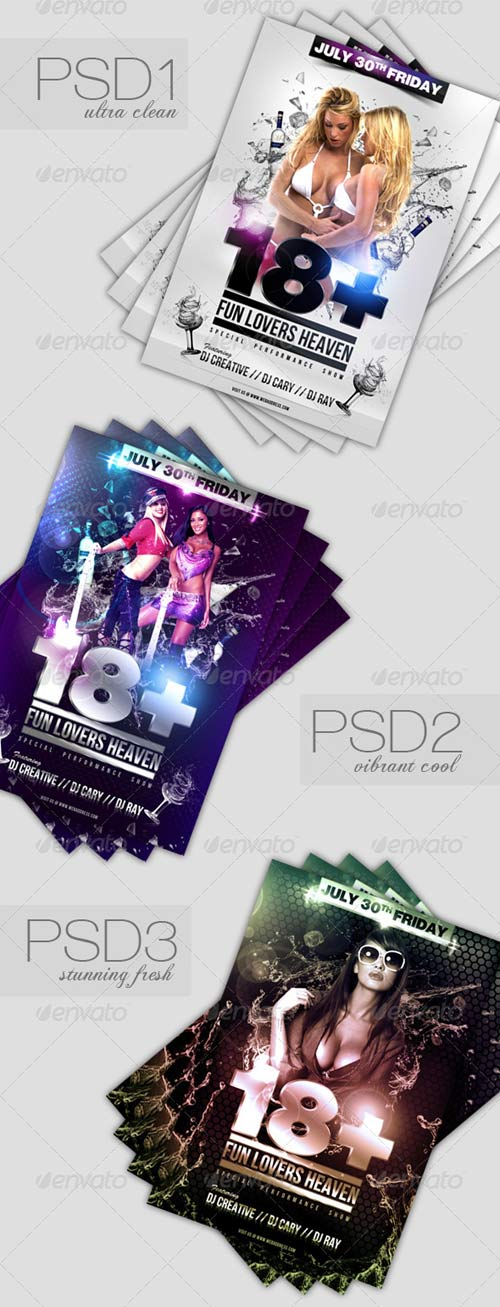 GraphicRiver 18 + Party / Event Flyer Template