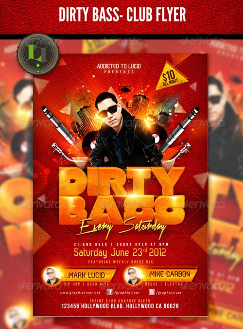 GraphicRiver Dirty Bass -Club Flyer