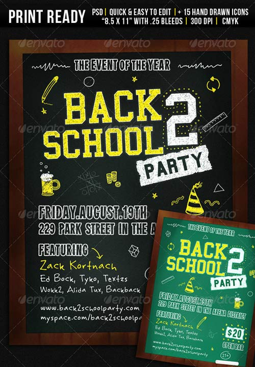 GraphicRiver Back 2 School Party - Flyer
