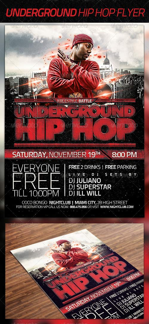GraphicRiver Underground Hip Hop Flyer