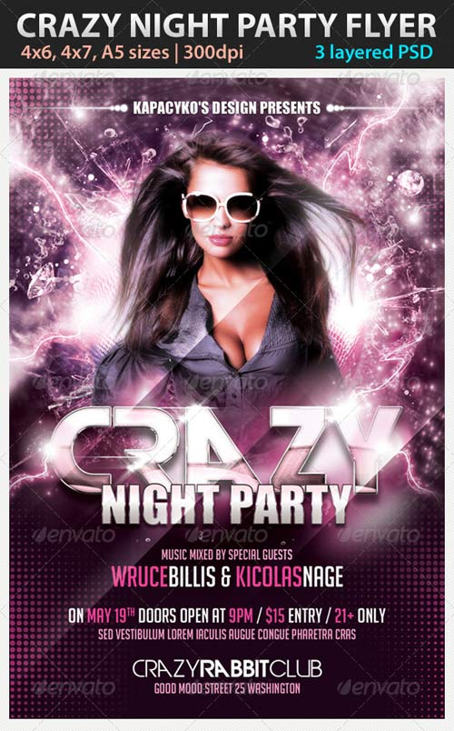 GraphicRiver Crazy Night Party Flyer