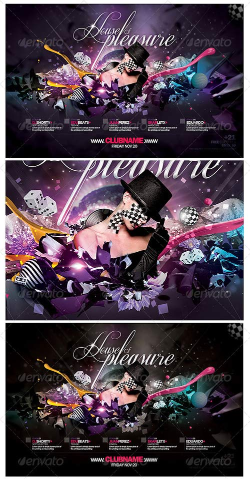 GraphicRiver House Of Pleasure Flyer Template