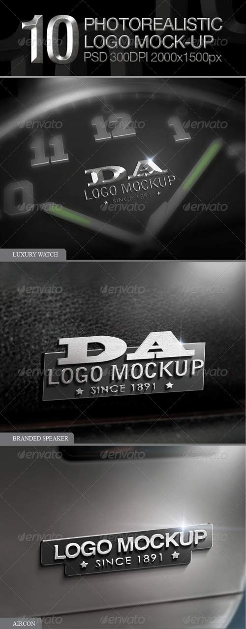 GraphicRiver 10 Photorealistic Logo Mock-up