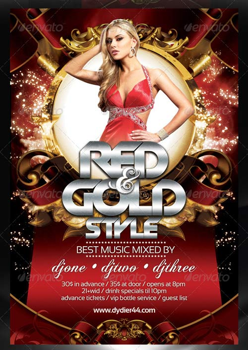 GraphicRiver Colors and Gold (Flyer Template 4x6)