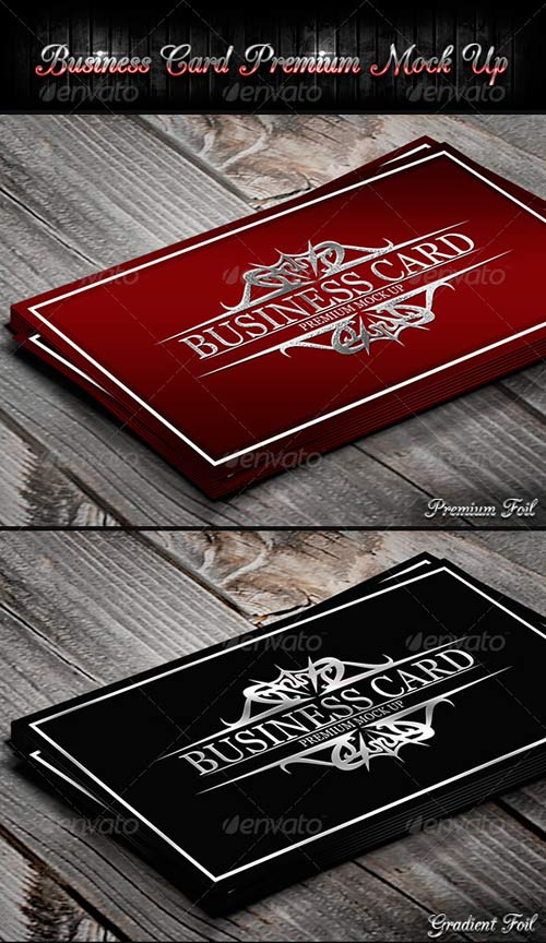 GraphicRiver Business Card Premium Mock-Up