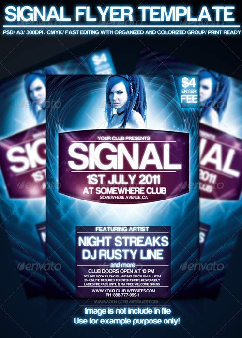 GraphicRiver Signal Flyer Template
