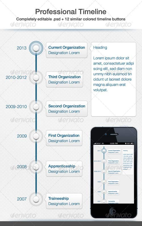 GraphicRiver Professional Timeline UI