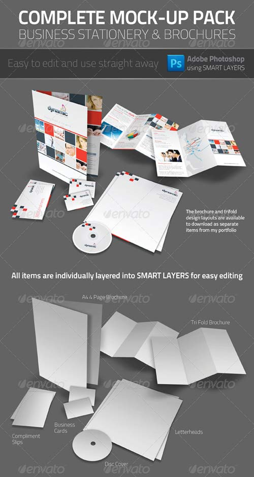 GraphicRiver Business Stationery Mock-up