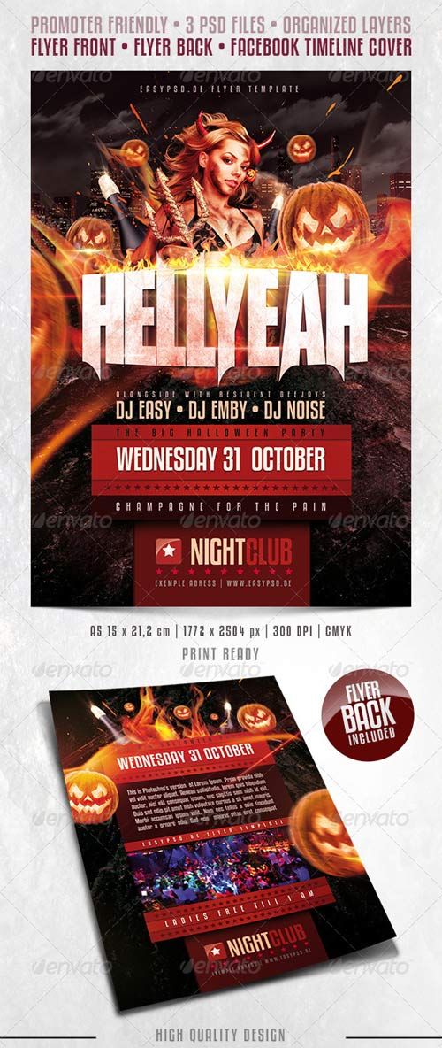 GraphicRiver HELLYEAH Flyer Template