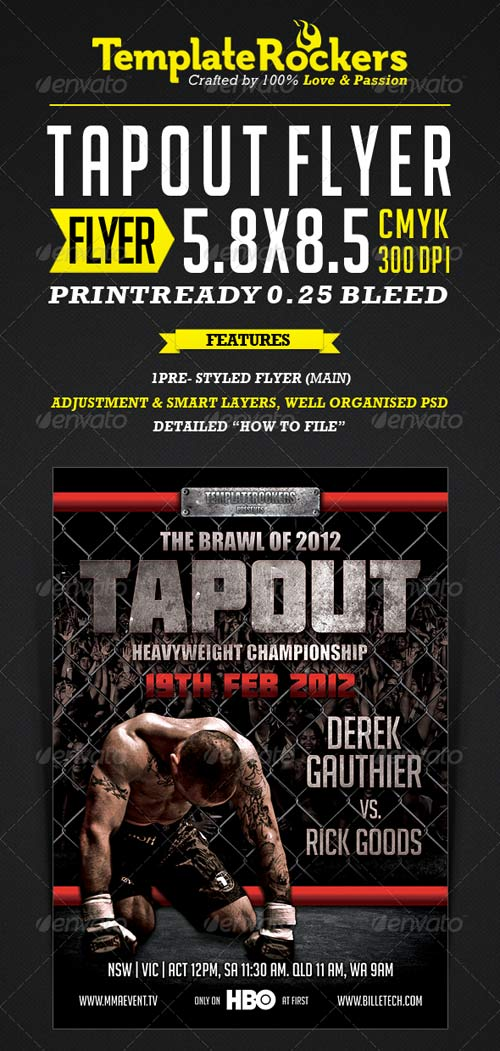 GraphicRiver TapOut - Flyer