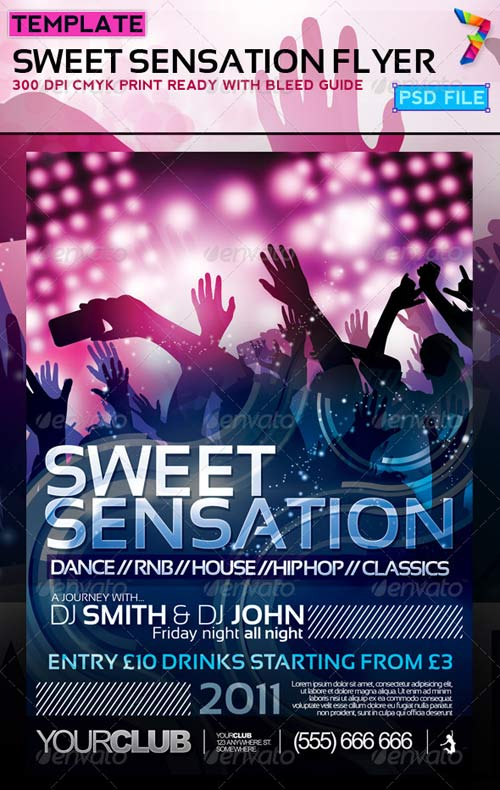 GraphicRiver Sweet Sensation Flyer Design