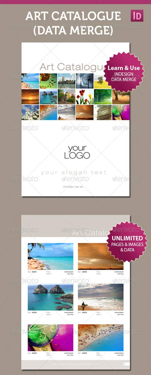 GraphicRiver Art Catalogue Template For InDesign Data Merge