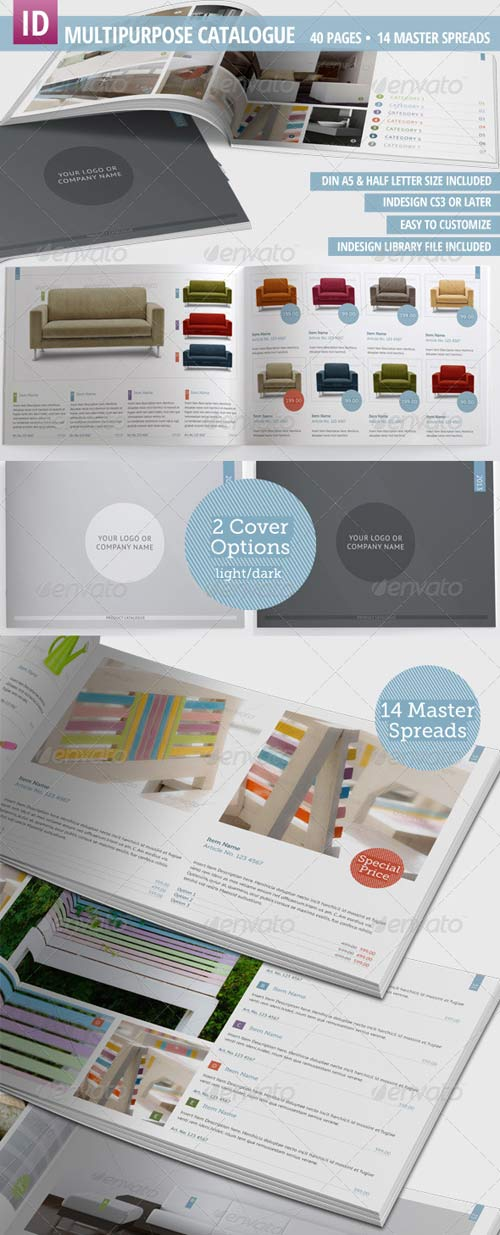 GraphicRiver Multipurpose Product Catalogue - 40 Pages