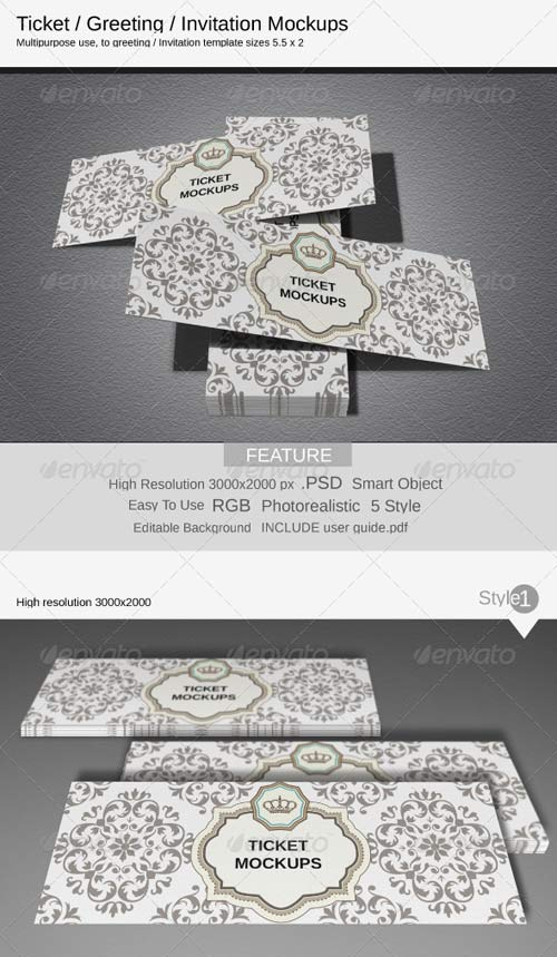 GraphicRiver Ticket Mockups