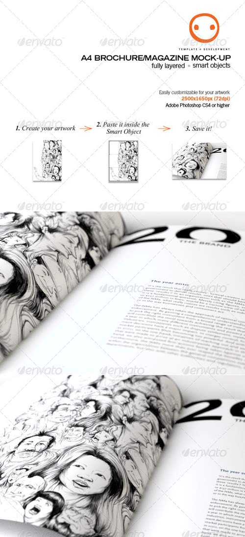 GraphicRiver A4 Brochure/Magazine Mock-up