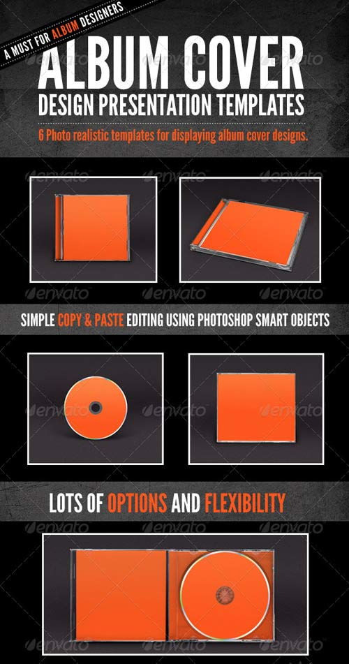 GraphicRiver Album Cover - Jewel Case Mock-Ups