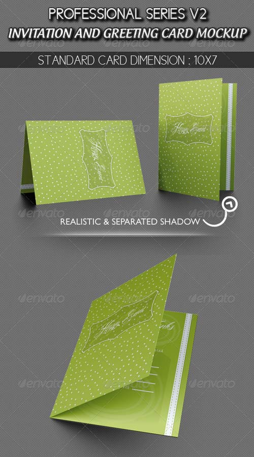 GraphicRiver Invitation and Greeting Card Mockup V1