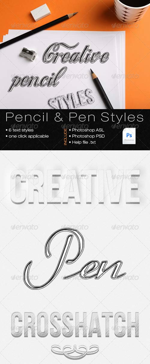 GraphicRiver Pencil and Pen Text Styles