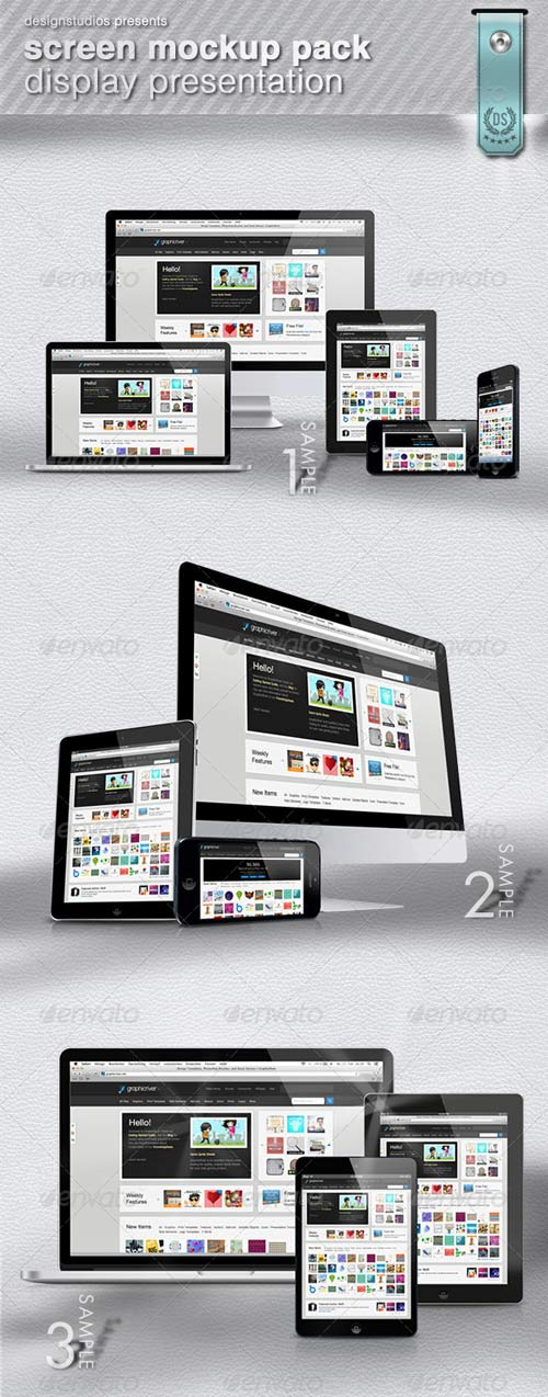 GraphicRiver Screen MockUp Pack Display Presentation