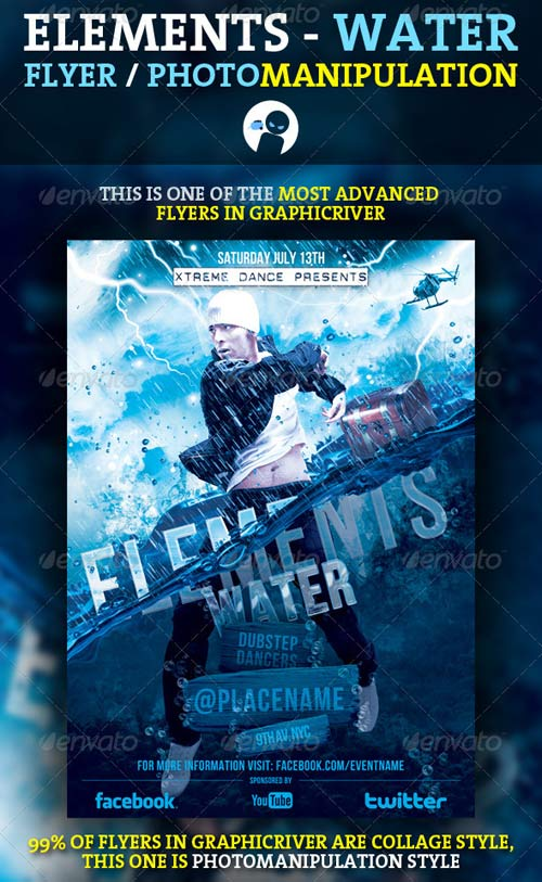 GraphicRiver Elements - Water Flyer / Photomanipulation