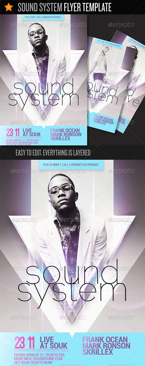 GraphicRiver Sound System - Flyer Template