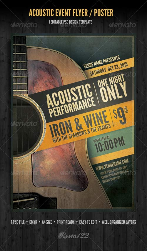 GraphicRiver Acoustic Event Flyer/Poster Template